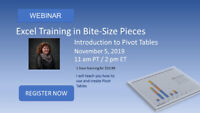 Introduction to Pivot Tables Webinar