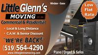 LITTLE GLENN`S MOVING **FREE ESTIMATES** 519-564-4290