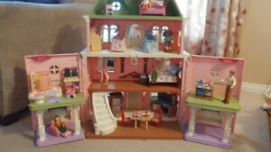 Fisher price loving family grand house with furnishings