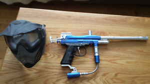 Stryker Paint ball gun and mask