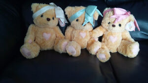 3 Cherished Teddies Plush Teddy Bear