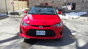 2015 Scion tC Coupe Red  -- Sunroof, $500 cash+winter tires