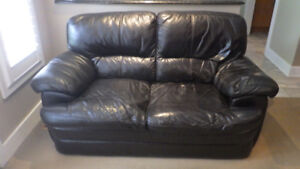 Leather Love Seat and Chairs