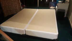 King size bed frame with 2 single box springs