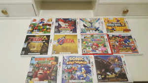 Nintendo 3DS Games ($25 each)Nintendo 3DS Games ($25 each)