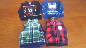 baby sweaters and vests - 3-6 month