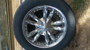 6 bolt 20 inch Chevy rims and tires!!