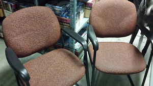High-Quality Padded Office Chairs (3 available)