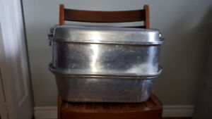 Antique Roasting Pan with Rack