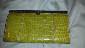 Brand new lime green eyelet clutch/wallet