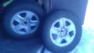 Avalanche extreme studded winter tires & rims