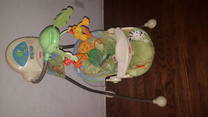 baby swing batterie and electric work great: