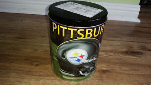 Collectible Pittsburgh STEELERS Empty Tin Can NHL sticker