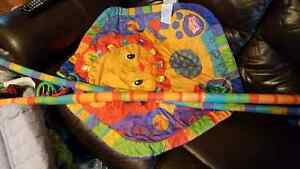 Baby play mat and assorted bottles and accessories