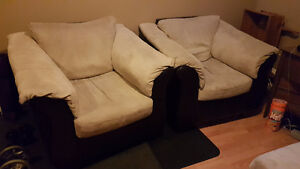 Love Seat, 2 Chairs, Ottoman - Good Condition - Fast sale