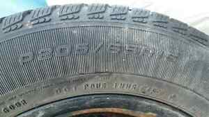 USED 205/65R15 Snow Tires - Rims included London Ontario image 3