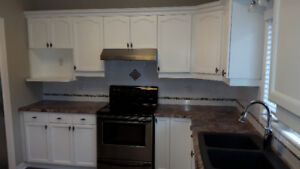 Kitchen for sale - cupboards, counter tops, sink, and faucet!