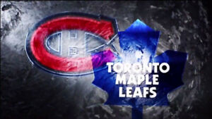 Montreal Canadiens vs Leafs tomorrow upper bowl center ice! Wow!