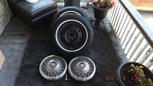 """Complete matching set of thin Whitewall Marshalls,A/S,205,75,14"""""""