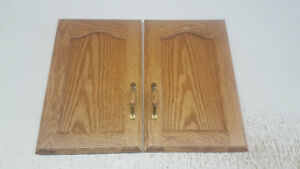Two sets of cabinet doors