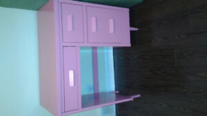 Pink Desk and shelves for sale