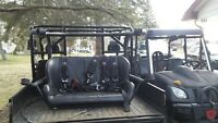 Rear seat with harness for Can Am Commander