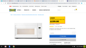 Brand new in box IKEA Lagan White Microwave