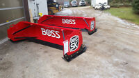 boss v plow, snow pusher,snow box, salter, salt bins,