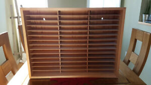 Napa Valley Box Co vintage wood wall rack for 42 VHS tapes