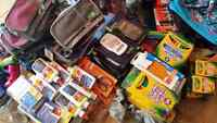 Donating elementary school aged back pack and supplies