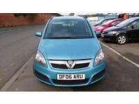 VAUXHALL ZAFIRA 1.6 LIFE LOW MILES 7 SEATER MET BLUE A/C ONLY £15 WEEK P/LOAN 06