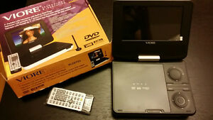 "New Viore 7"" portable TV with built-in DVD player and USB port"