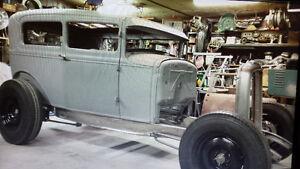 1930 Ford Model A Sedan Interior