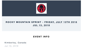 2 SPARTAN RACE TICKETS FOR SALE