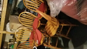 Wood bar stools for sale excellent condition