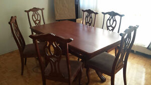 dinning table + 6 chair + its coffee and sides