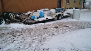 Trailer plate forme 20 x 7.6 pied