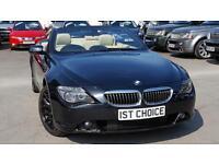 2006 BMW 6 SERIES 650I SMG CONVERTIBLE SAPPHIRE BLACK CREAM LEATHER BLACK