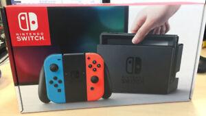 Brand New Nintendo Switch Neon Red Blue Console w/ Receipt