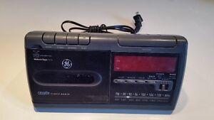 Vintage General Electric Cassette Clock Radio and Alarm