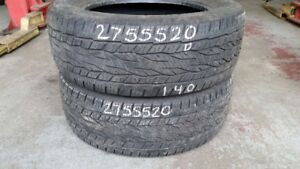 Pair of 2 Continental CrossContact LX20 275/55R20 tires (50% tre