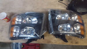 Silverado black headlights