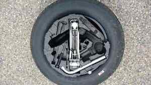 ONE 195/65/15 Michelin MXV4 tire, rim and jack kit