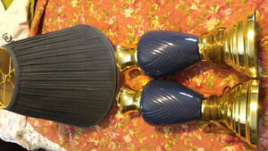 Set of two blue lamps