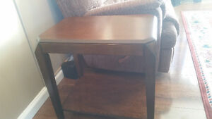 Like new high end solid wood coffee table and two end tables. Prince George British Columbia image 2
