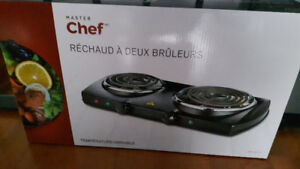 ELECTRIC DOUBLE BURNER--NEW IN A BOX