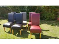 6 kitchen chairs for up cycle