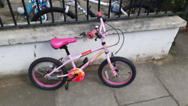 Girls bike, ages 5-7, 16 inch wheel size, Apollo Roxie