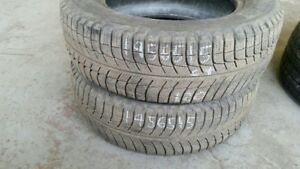 Pair of 2 Michelin Xice Xi3 195/65R15 WINTER tires (65% tread li