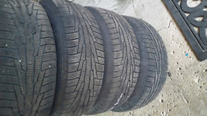 Bmw original rims with 205/55R 16 winters fits E46 cars Kitchener / Waterloo Kitchener Area image 1